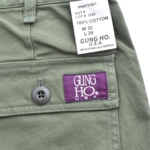 ガンホー GUNG HO パンツ 45周年 オーセンティック ベイカーパンツ メンズ ファティーグ ファティーグパンツ カーゴパンツ チノパン GUNHO 復刻 882HD99367|raiders|14