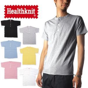 (ヘルスニット) Healthknit Tシャツ ヘンリーネック メンズ raiders