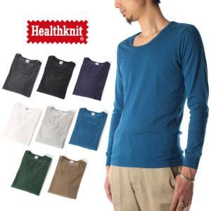 (ヘルスニット) Healthknit Tシャツ クルーネック 長袖 メンズ raiders