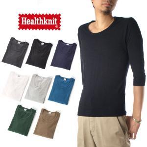 (ヘルスニット) Healthknit Tシャツ 7分袖 クルーネック メンズ raiders
