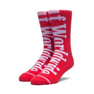 ハフ HUF ソックス 靴下 カントリー クルー ソックス スケートソックス ブランド スケートボードスカーレット RED 赤 COUNTRY CREW SOCKS SCARLET SK00255FA18|raiders