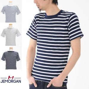 JEMORGAN ジェーイーモーガン ジェーモーガン Tシャツ 半袖 ボーダー クルーネック サーマル パックTシャツ J5089-626 ロングジョン メンズ|raiders