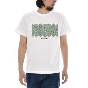 ジャスト Tシャツ トリック アート 半袖Tシャツ メンズ レディース TRICK 大きいサイズ おしゃれ  ホワイト 白 S M L XL XXL XXXL 3L 4L Just T-shirt|raiders
