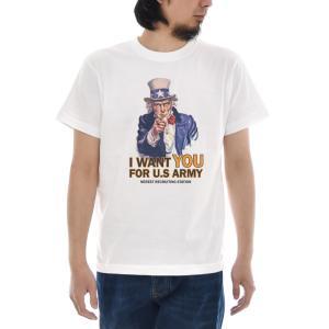 ジャスト Tシャツ アンクル サム 半袖Tシャツ メンズ レディース 第一次世界大戦 アメリカ USA ティーシャツ 大きいサイズ ホワイト 白 S M L XL XXL XXXL 3L 4L|raiders