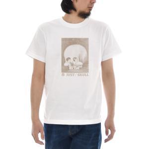 ジャスト Tシャツ Double Image Skull 半袖Tシャツ メンズ おしゃれ 大きいサイズ スカル ドクロ ガイコツ 隠し絵 トリックアート 白 S M L XL XXL XXXL 3L 4L|raiders