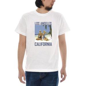 ジャスト Tシャツ Los Angeles Sightseeing 半袖Tシャツ メンズ おしゃれ 大きいサイズ ロサンゼルス アメカジ アメリカ 柄 白 S M L XL XXL XXXL 3L 4L|raiders