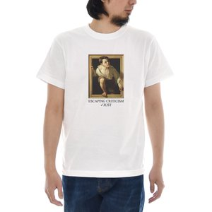 ジャスト Tシャツ Pere Borrell del Caso 半袖Tシャツ メンズ おしゃれ 大きいサイズ 隠し絵 さがし絵 トリックアート 柄 白 S M L XL XXL XXXL 3L 4L|raiders