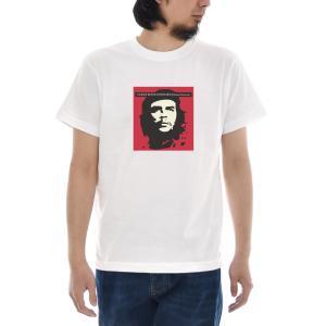 ジャスト Tシャツ CHE GUEVARA 半袖Tシャツ メンズ おしゃれ 大きいサイズ チェ ゲバラ エルネスト ERNESTO GUEVARA 革命家 プリントTシャツ 白 S M L XL 3L 4L|raiders