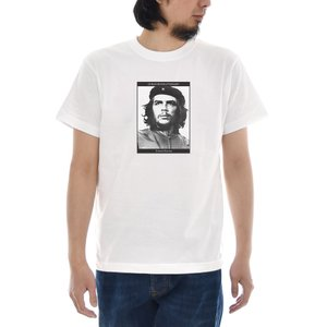 ジャスト Tシャツ CHE GUEVARA フォト 半袖Tシャツ メンズ おしゃれ 大きいサイズ チェ ゲバラ エルネスト ERNESTO 革命家 写真 プリント 白 S M L XL 3L 4L|raiders