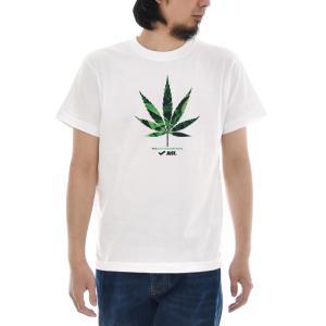 ジャスト Tシャツ CANNABIS LEAF 半袖Tシャツ メンズ おしゃれ 大きいサイズ 大麻 麻 マリファナ カンナビス ガンジャ ウィード 柄 白 S M L XL XXL XXXL 3L 4L|raiders