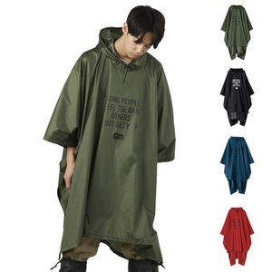 KiU キウ レインウェア エアライト レインポンチョ メンズ レディース ブランド レインコート雨具 カッパ 収納袋付き フリーサイズ AIR-LIGHT RAIN PONCHO K88|raiders
