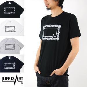 ライフ イズ アート Life is ART Tシャツ Frames LOGO T-Shirt[M便 1/1] メンズ|raiders