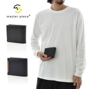 マスターピース MASTER PEACE 財布 ノッチ 二つ折り財布 レザー 革 ウォレット 二つ折りミドルウォレット プレゼント 黒 Notch 223052|raiders