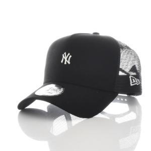 ニューエラ new era キャップ 帽子 9FORTY A-Frame MLB ニューヨーク ヤンキース NEW YORK メッシュキャップ 5パネル メジャーリーグ ブランド 黒 11715702|raiders