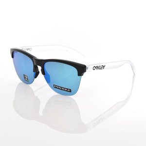 オークリー OAKLEY サングラス フロッグスキン ライト メガネ 眼鏡 メンズ UVカット マットブラック プリズム サファイア ブルーミラー オークレー OO9374-0263 raiders