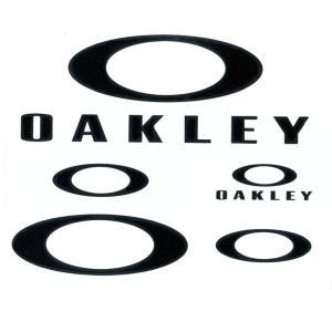 オークリー OAKLEY ステッカー  ステッカーパック ラージ 5枚セット ファンデーションロゴ カッティングステッカー ダイカット ブラック 黒 AOO0002ET|raiders