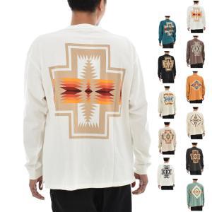 ペンドルトン PENDLETON Tシャツ バックプリントロングスリーブTEE 長袖Tシャツ ロンT メンズ レディース ネイティブ柄 アウトドア M L 1475-5001|raiders