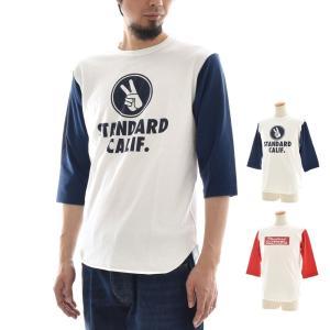 スタンダードカリフォルニア STANDARD CALIFORNIA チャンピオン CHAMPION コラボ Tシャツ ベースボールTシャツ 七分袖 五分袖 スタカリ TSBCA128 メンズ|raiders