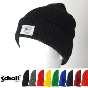 ショット Schott ニットキャップ オールドスクール ワッチキャップ 3149020 メンズ|raiders
