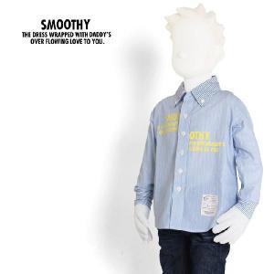 スムージー SMOOTHY 子供服 キッズ 2トーン ストライプシャツ 12AWSPSM-SH03 メンズ raiders