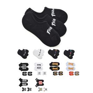 スラッシャー THRASHER 靴下 ソックス 3ペア メンズ レディース ベリーショート ショート アンクル ブラック 黒 TH-SX201 TH-SX202 TH-SX204 TH-SX205 TH-SX212|raiders