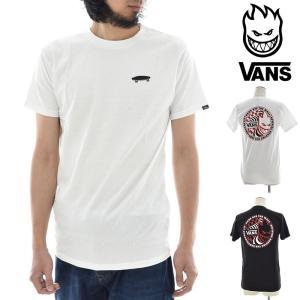 Vans バンズ Tシャツ SPITFIRE スピットファイア コラボレーション メンズ プリント 半袖Tシャツ ロゴ メンズ VN0A36UCWHT VN0A36UCBLK|raiders