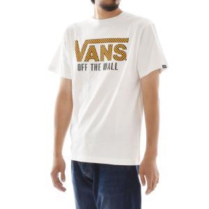 VANS ヴァンズ バンズ Tシャツ メンズ チェッカーロゴ 半袖Tシャツ クラシックロゴ TEE ティーシャツ ブランド ホワイト 白 カジュアル M L VA18SS-MT08|raiders