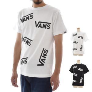 VANS バンズ ヴァンズ Tシャツ メンズ レディース おしゃれ 総柄 マルチ柄 ロゴ 半袖 ブランド アメカジ Lots of Flying-V S/S T-Shirt VA18HS-MT15 raiders