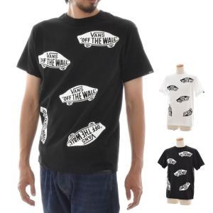 VANS バンズ ヴァンズ Tシャツ メンズ レディース おしゃれ 総柄 マルチ柄 オフザウォール ロゴ 半袖 ブランド M L Lots of SK8OTW S/S T-Shirt VA18HS-MT16 raiders