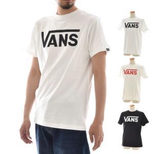 VANS ヴァンズ バンズ Tシャツ クラシック ロゴ CLASSIC LOGO メンズ プリントTシャツ ホワイト ブラック 白 黒 VANS-MT01|raiders