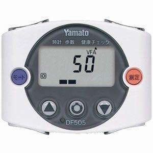 ヤマトハカリ 歩数計型体脂肪計 ウォーキングミニ ホワイト DF-505-W 即納|raihoo