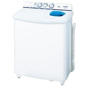 2槽式洗濯機 青空 日立 洗濯・脱水容量5.5kg PS-55AS2-W ホワイト