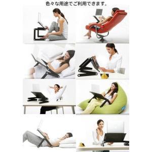 パソコン タブレット対応 折畳 アームスタンド 好きな角度を調節可能 PCアームスタンド 寝ながらパソコン ステンレス製 アームスタンド 折りたたみ◇RIM-OMAX200|raimu-house|03