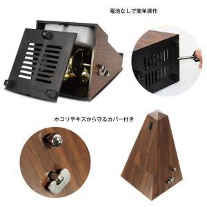 メトロノーム 振り子 木目 楽器 ビート テンポ ピアノ ギター ベース バイオリン ◇RIM-GM-G1|raimu-house|04