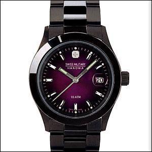 スイスミリタリー腕時計 SWISS MILITARY 時計ML189メンズ ペアウォッチ ELEGANT BLACK エレガントブラック