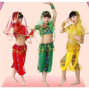 ダンス衣装 コスチューム ベリーダンス  子供 お祝い 女の子 発表会 学園祭 社交ダンス イベント用 演出|rainbow-beach88