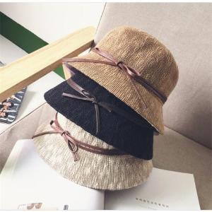 ストローハット レディース 麦わら帽子 UVカット つば広 折りたたみ 帽子 日よけ 海へ rainbow-beach88