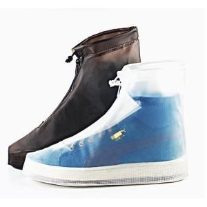 雨用 靴カバー チャック式レインカバー 雨具 透明 通学 ブーツカバー シューズカバー  通勤 雨対策 レインシューズ レインブーツ 防水 rainbow-beach88
