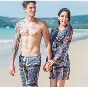 サーフパンツ ペアルック 海パン 短パン  レディース メンズ ビーチパンツ カップルお揃い 海の日 新婚旅行 ご夫婦|rainbow-beach88