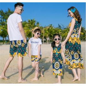 親子お揃い ワンピース 水着 2点セット ママ水着 マキシ シフォン 女の子 マキシ 子ども服 夏物 レディース キッズ 家族 旅行 AlohaMahalo|rainbow-beach88