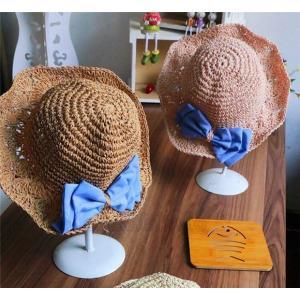 麦わら帽子 キッズ UVカット 子供用帽子 スローハット 日よけ対策 カンカン帽子 紫外線対策 サマーハット 赤ちゃん AlohaMahalo rainbow-beach88