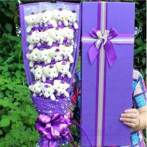 愛の花束 熊束プロポーズ  くま束 ベア ブーケ バレンタインデー プレゼント ギフト 愛の告白 誕生日 結婚記念日 愛を伝える AlohaMahalo|rainbow-beach88