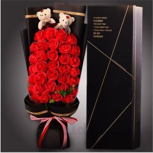 愛の花束 熊束プロポーズ バラ ローズ ブーケ Rose クリスマス サンタ プレゼント ギフト 愛の告白 誕生日 結婚記念日 愛を伝える  AlohaMahalo