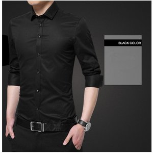 シャツ メンズ ワイシャツ リネン 長袖 綿シャツ 白シャツ 春 ビジネス 通勤 カジュアル ビジネス|rainbow-beach88