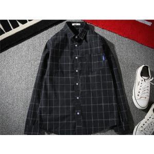 メンズ ネルシャツ カジュアルシャツ 長袖 大きいサイズ ユニセックス デザイン 綿 コットン 通学 新春セール|rainbow-beach88