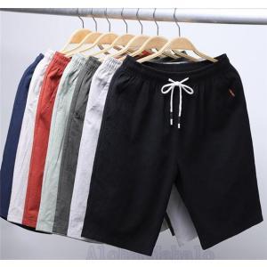 ボトムス 短パン ショートパンツ メンズ ハーフパンツ 膝上 ハーフ丈 カラーショーツ チノパン 7色 無地 ポケ付き 半ズボン カジュアル|rainbow-beach88