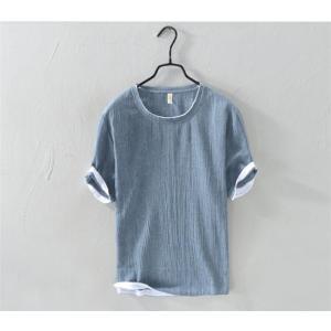 Tシャツ メンズ ヒップホップシャツ 大きいサイズ 5分丈Tシャツ 丸ネック カットソー トップス 無地 プリント トップスカットソー 春 夏AlohaMahalo|rainbow-beach88