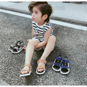 キッズサンダル 子供靴 マジックテープ ビーチサンダル ベビーシューズ ジュニアシューズ スポーツサンダル 速乾 メッシュ 通気男の子|rainbow-beach88