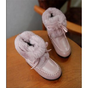子供靴 ベビー靴 幼児  ベビー ムートンブーツ キッズ ショートブーツ 小さいサイズ 裏起毛 秋冬 子供 防寒 ブーツ おしゃれ かわいい AlohaMahalo|rainbow-beach88