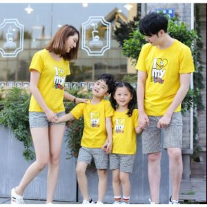 Tシャツ 親子 子ども服 夏物 セットアップ レディース キッズ ペアルック カップル 家族|rainbow-beach88